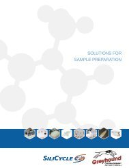 SiliCycle Solutions for Sample Preparation