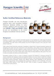 Paragon Scientific Sulfur Standards Guide