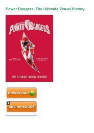 (pd9c) PDF Download Power Rangers: The Ultimate Visual History eBook