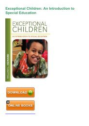 (COMFORTABLE) PDF Book Exceptional Children: An Introduction to Special Education eBook