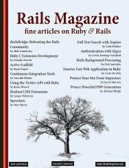 Rails Magazine Issue 5