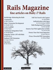 Rails Magazine Issue 5