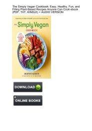 (SECRET PLOT) Simply Vegan Cookbook Healthy Plant Based ebook eBook PDF