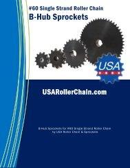 B-Hub Sprockets for #60 Single Strand Roller Chain Catalog