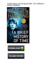 (CONCEALED) Download Brief History Time Stephen Hawking ebook eBook PDF