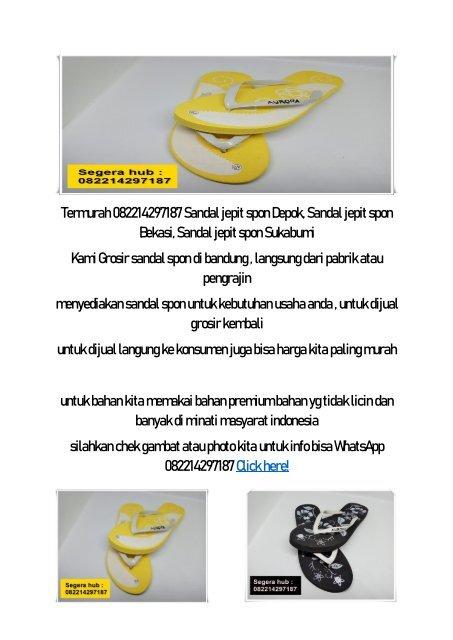 Spon Termurah Sandal 082214297187 Depok Jepit oWdrCxeQB