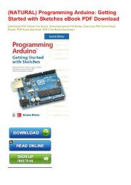 (NATURAL) Programming Arduino: Getting Started with Sketches eBook PDF Download