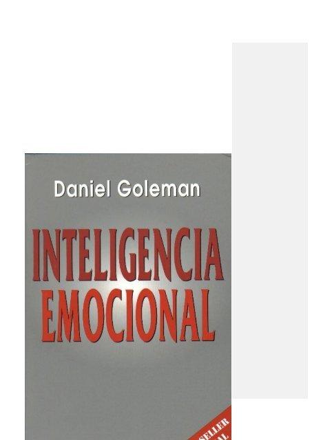 Inteligencia Emocional- Daniel Goleman