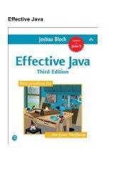 (DEFINITELY) Effective Java eBook PDF Download