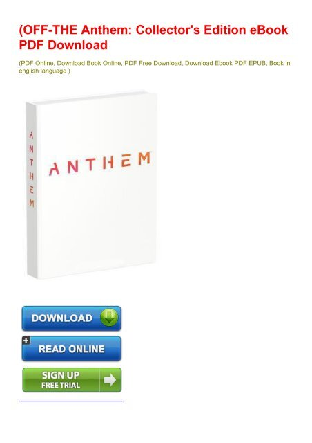 Off The Anthem Collector S Edition Ebook Pdf Download