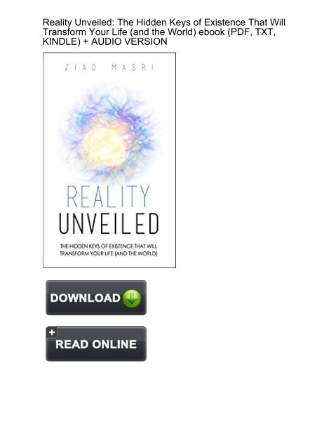 REDUCED) Download Reality Unveiled Hidden Existence