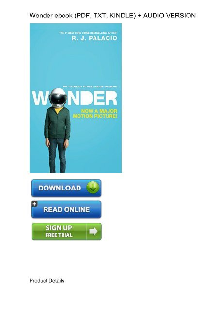 wonder by rj palacio free download pdf