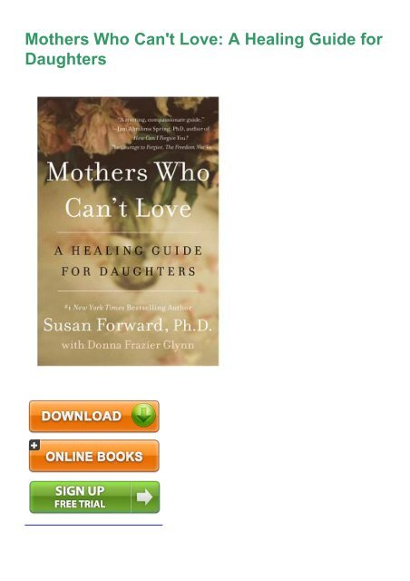 pd9c) PDF Download Mothers Who Can't Love: A Healing Guide