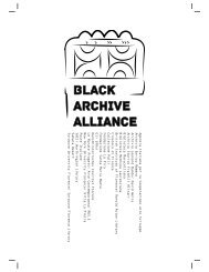 Black Archive Alliance Catalogue