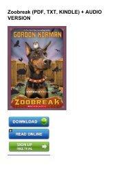 (LEFT BEHIND) Zoobreak ebook eBook PDF