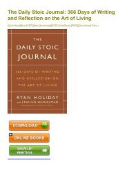 (RELIABLE) The Daily Stoic Journal: 366 Days of Writing and Reflection on the Art of Living eBook PDF Download