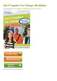 (RELIABLE) Get It Together For College, 4th Edition eBook PDF Download