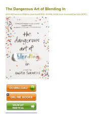 (EXHILARATED) The Dangerous Art of Blending In eBook PDF Download