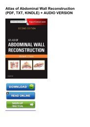 (BRIGHT) Atlas of Abdominal Wall Reconstruction ebook eBook PDF
