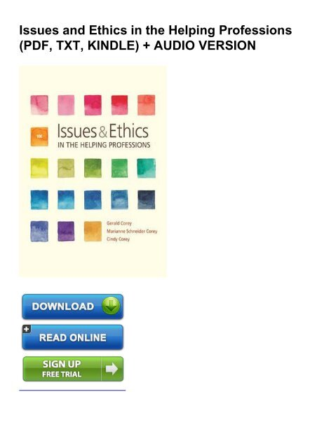 issues and ethics in the helping professions 10th edition free download