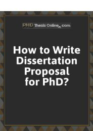 How to dissertation proposal for PhD?