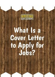 What Is a Cover Letter to Apply for Jobs?