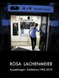 Rosa Lachenmeier, Ausstellungen 1985-2019