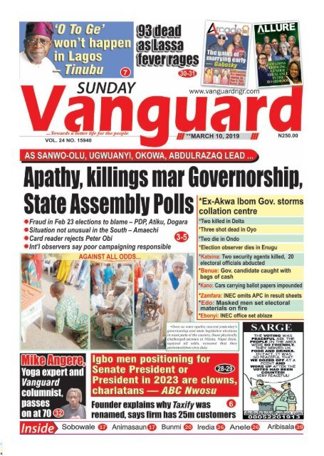 10032019 - Apathy, killings mar Governorship State Assembly polls