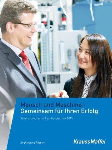 Seminarprogramm Reaktionstechnik 2013 - Krauss Maffei