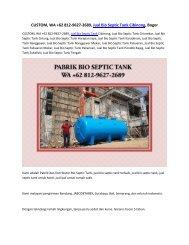 CUSTOM, WA +62 812-9627-2689, Jual Bio Septic Tank Cibinong, Bogor