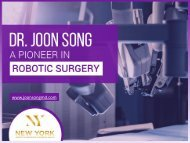Dr. Joon Song - The Best Gynecologist in New York