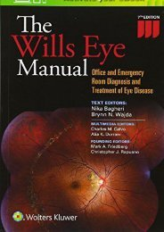Read The Wills Eye Manual: Office and Emergency Room Diagnosis and Treatment of Eye Disease Pdf books
