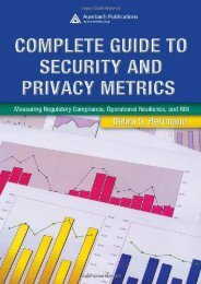 read online Complete Guide to Security and Privacy Metrics: Measuring Regulatory Compliance, Operational Resilience, and ROI full