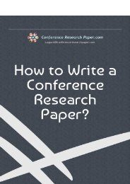 How to Write a Conference Research Paper?