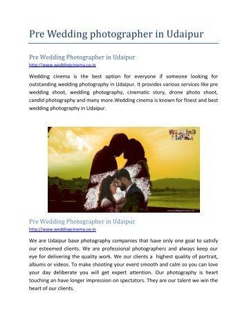Pre Wedding Photographer in Udaipur