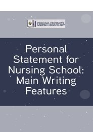 Personal Statement for Nursing School: Main Writing Features