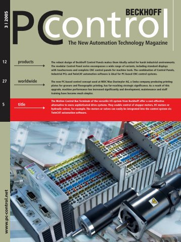 PC Control 3|2005 - PC-Control The New Automation Technology ...