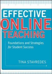 Downlaod Effective Online Teaching: Foundations and Strategies for Student Success Pdf books