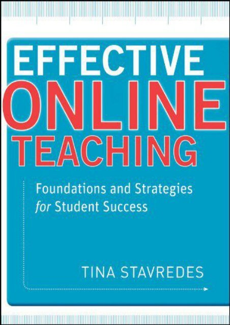Downlaod Effective Online Teaching: Foundations and Strategies for