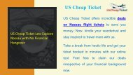 US Cheap Ticket Lets Explore Nassau with No Financial Hangover