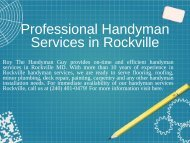 Professional Handyman Services in Rockville