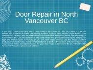 Professional Door Repair Service in North Vancouver BC