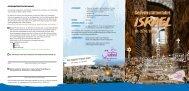 Flyer Gedenkstättenfahrt Israel