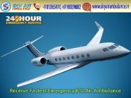 Receive Commercial Air Ambulance Service in Kanpur at Affordable Price