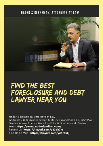 Find the best Foreclosure and Debt Lawyer near you