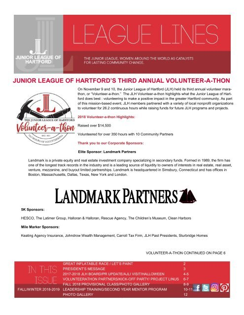 JLH League Lines - Fall and Winter 2018 - 2019 FINAL