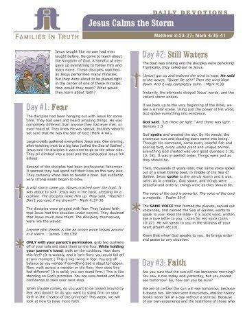 FIT - Jesus Calms Storm