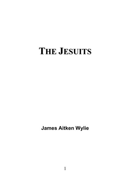 The Jesuits - James Aitken Wylie