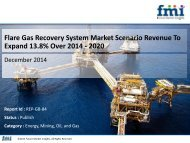 Flare Gas Recovery System Market Scenario Revenue To Expand 13.8% Over 2014 - 2020