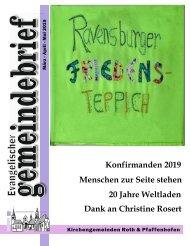 Evang.-luth. Kirchengemeinde Roth - Gemeindebrief März 2019 - Mai 2019